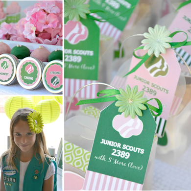 Girls Scout Party with FREE Printables