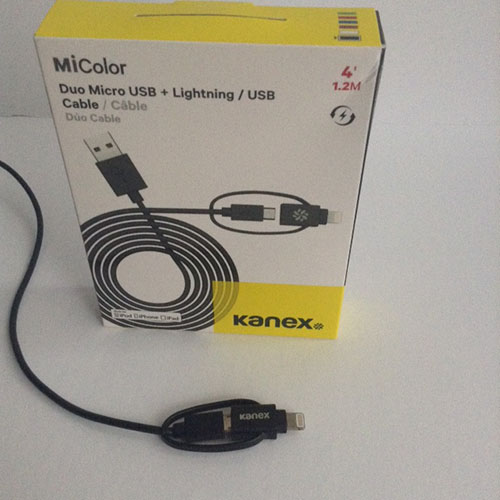 Kanex MiColor Duo Micro USB + Lightning/USB cable Review Giveaway