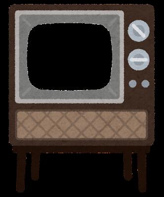 昔のブラウン管テレビのイラスト(フレーム素材)