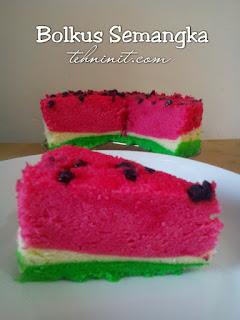Bolu kukus semangka cantik