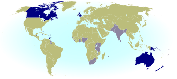 Which Commonwealth countries is the queen head of? Map of current and former Commonwealth Realms - independent countries that share the British monarchy.