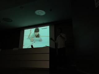 Álvaro Varona durante su charla