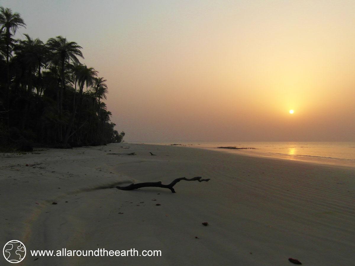 Sunset beach, Bubaque Island, Bijagos Archipelago, Guinea Bissau, West Africa
