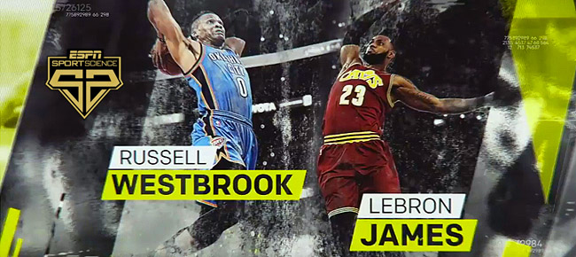 ESPN Sport Science: LeBron James vs Russell Westbrook (VIDEO)