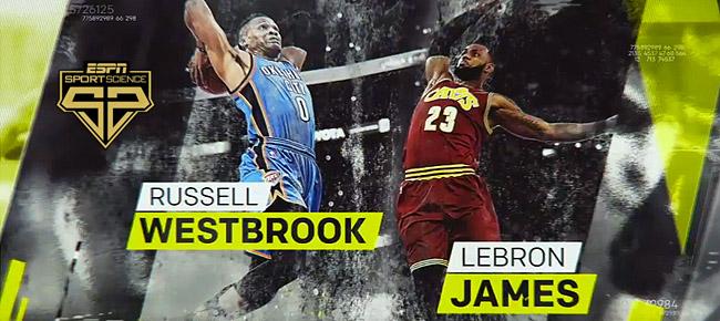 ESPN Sport Science: LeBron James vs Russell Westbrook (VIDEO)