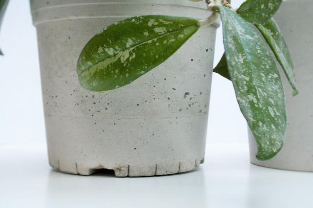 DIY betonové nádoby, květináče