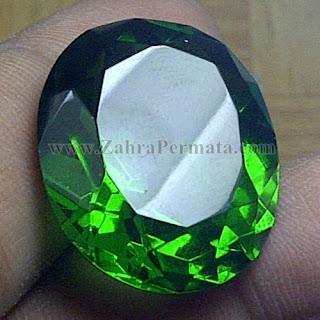 Batu Permata Green Tektite + Memo - ZP 965