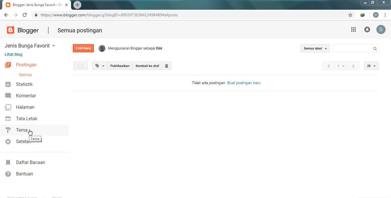 Cara Pertama Mengganti Template Blog