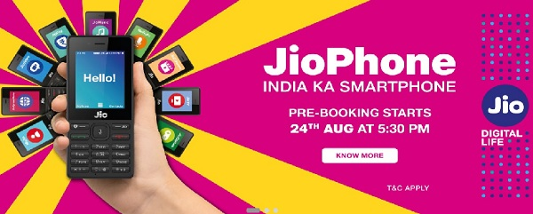 Jio Phone, 4G feature phone, Reliance Jio, JioPhone Smartphone, jiophone online booking, 4G smartphone JioPhone, JioPhone, VoLTE smartphone, Mukesh Ambani