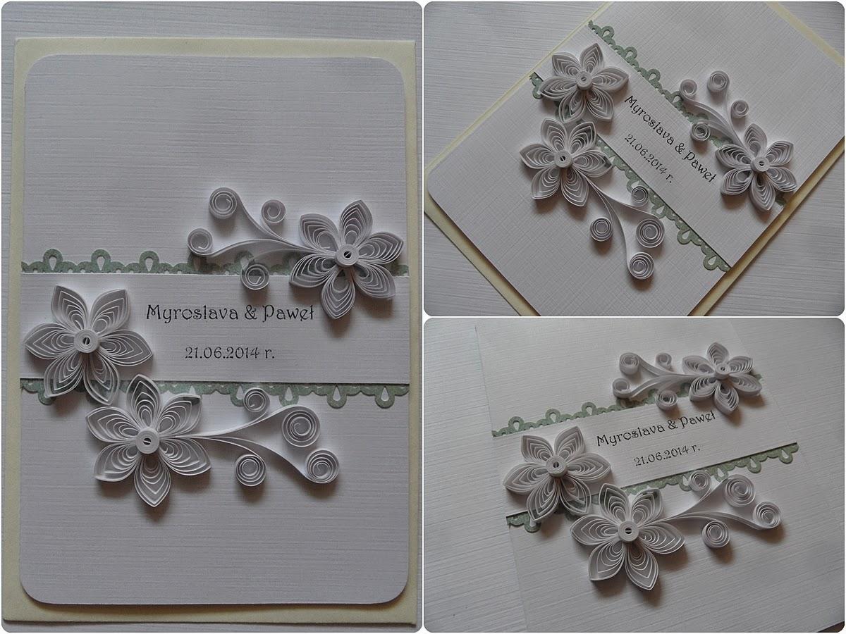Kartki ślubne W Bieli Handmade Zblogowani