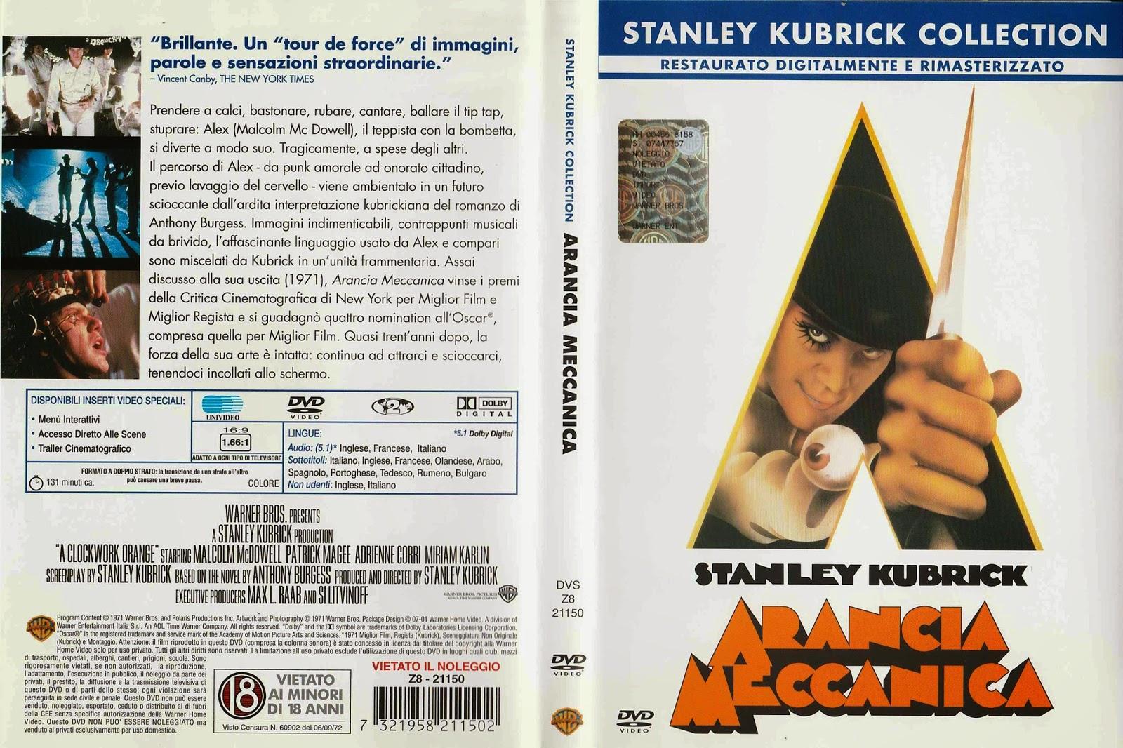 ARANCIA MECCANICA (DVD) di Stanley Kubrick