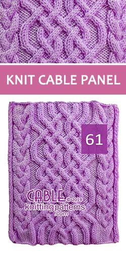 Knitted Cable Panel Pattern 61 , its FREE. Advanced knitter and up.