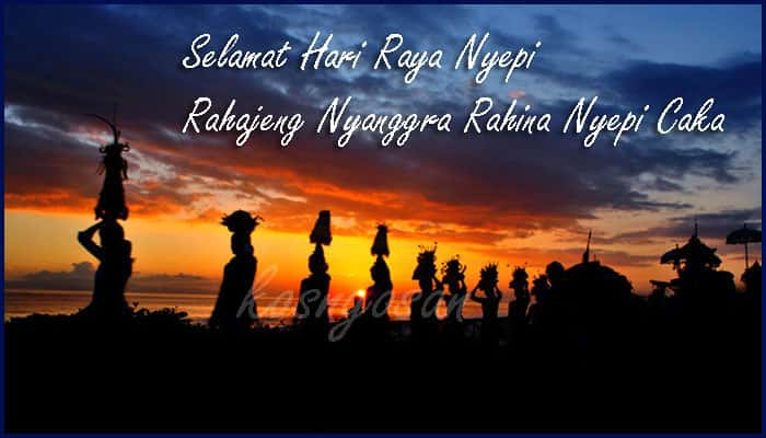 caption nyepi