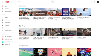 تفعيل الشكل الجديد لليوتيوب Material design