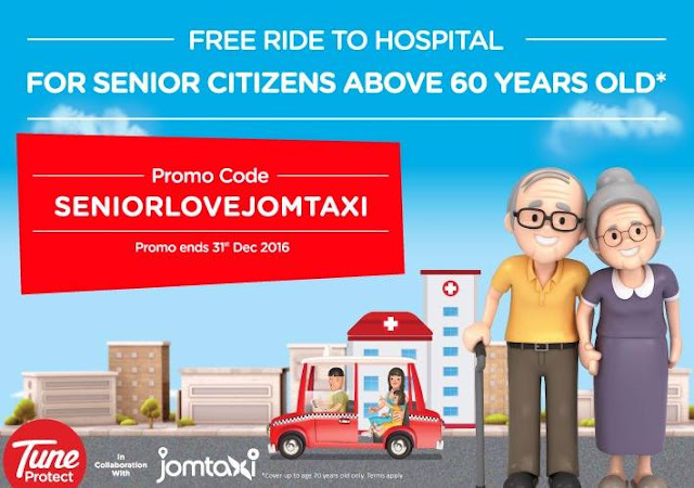 """Jom Taxi Launches """"Free Ride To Hospital"""" Promotion For Senior Citizens"""