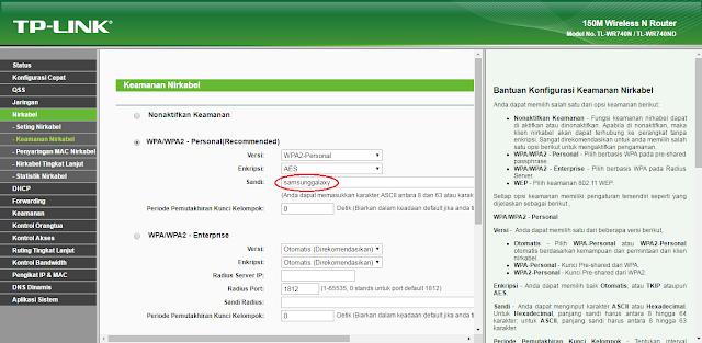 Cara Mengganti Password WiFi TP - Link TL WR740N Dengan Mudah