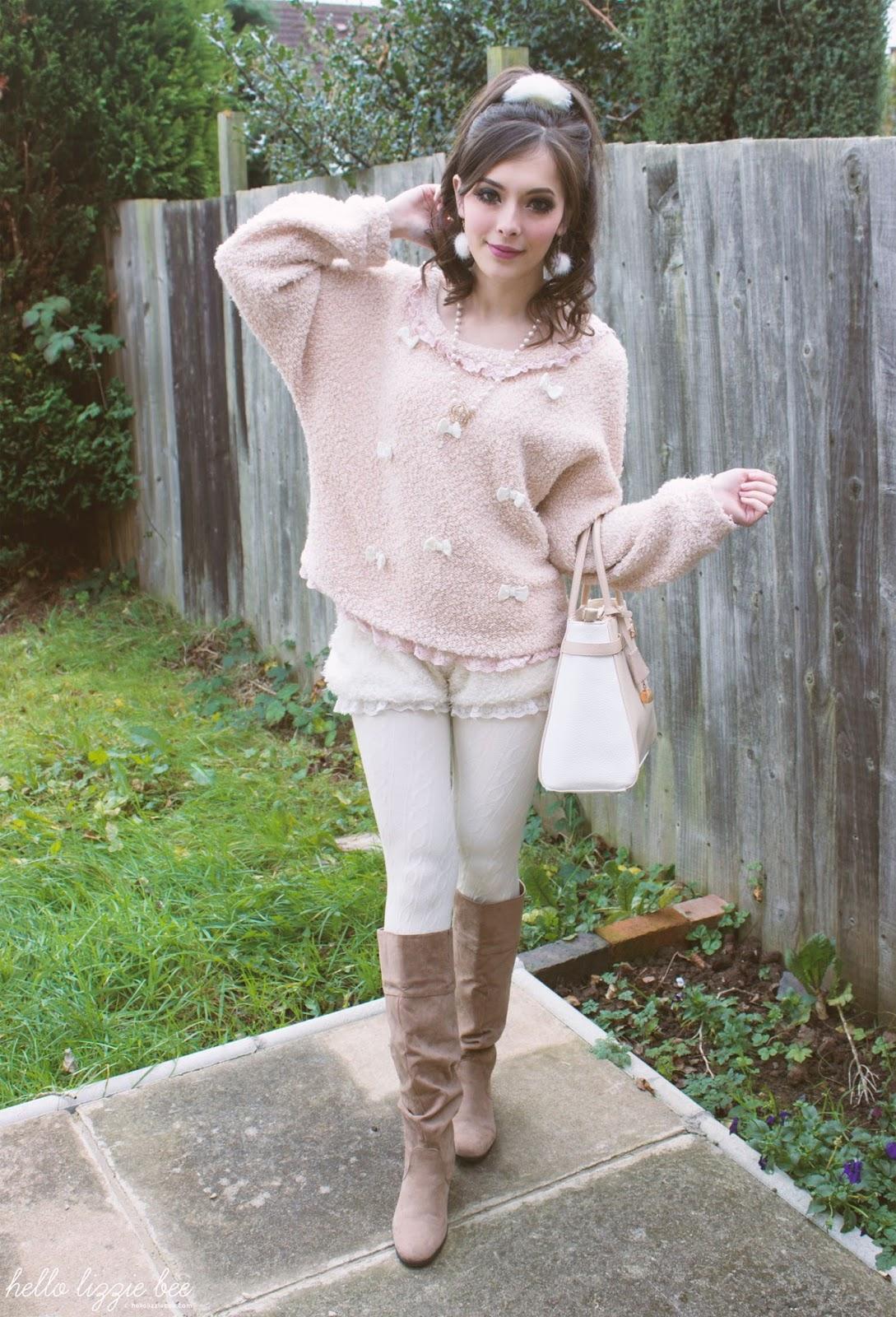 winter himekaji outfit, gaijin gyaru, liz lisa