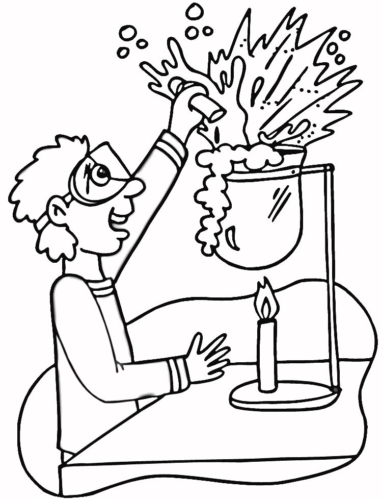 Kids Page Chemistry Laboratory Online Super Coloring Pages