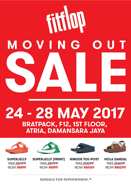 FitFlop Malaysia Moving Out Sale Discount Offer Promo