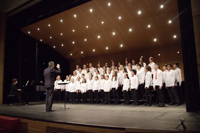 El Coro Infantil de la Sociedad Coral de Bilbao, en Muskiz