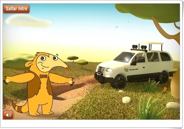 """""""Safari sobre ruedas"""" (Juego de distinción de animales salvajes)"""