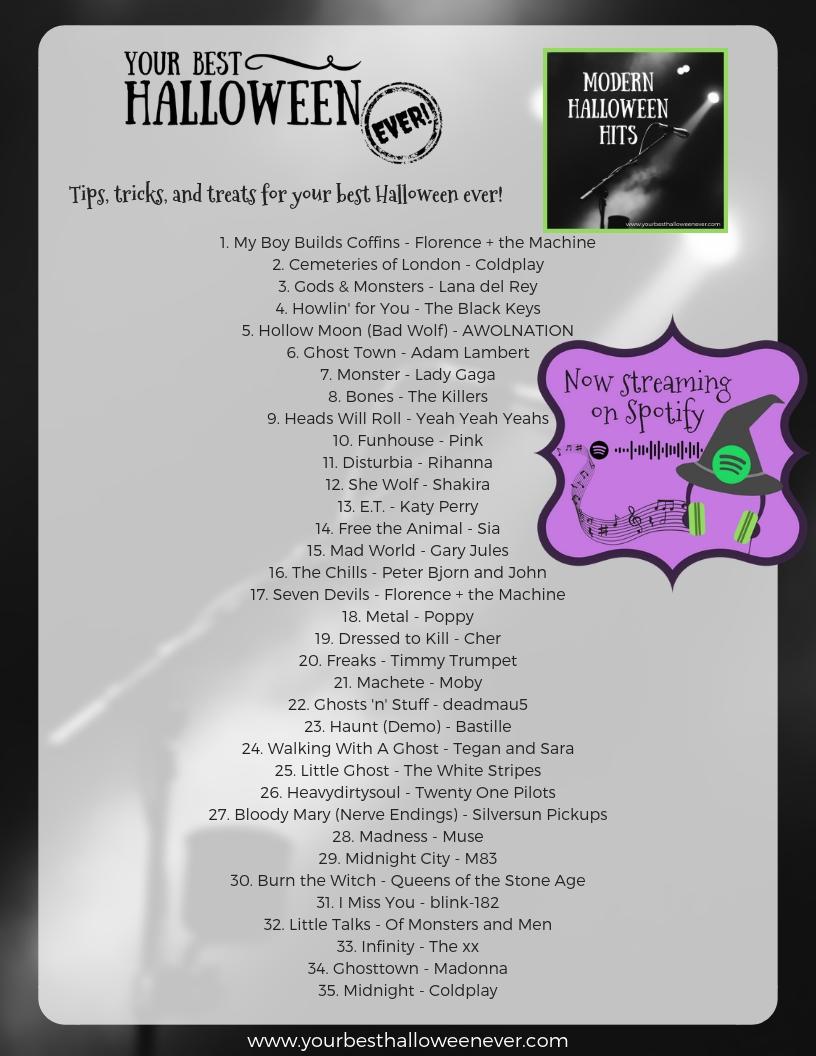 Halloween Music Playlist.Modern Halloween Hits Playlist Your Best Halloween Ever
