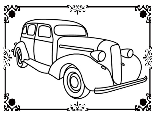 antique car coloring pages for toddler