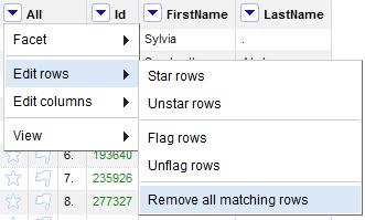 Remove duplicate rows ~ RefinePro Knowledge Base for OpenRefine