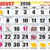 August 2016 Hindu Calendar with Tithi
