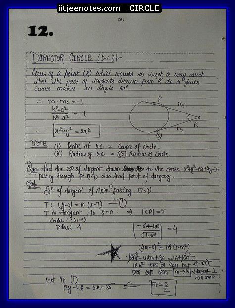 circle notes cbse2