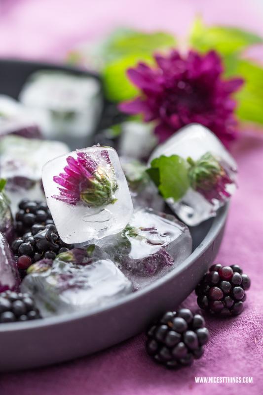 Eiswürfel mit Blüten Flower Ice Cubes #eiswürfel #blüteneiswürfel #icecubes #flowers #wedding #hochzeit