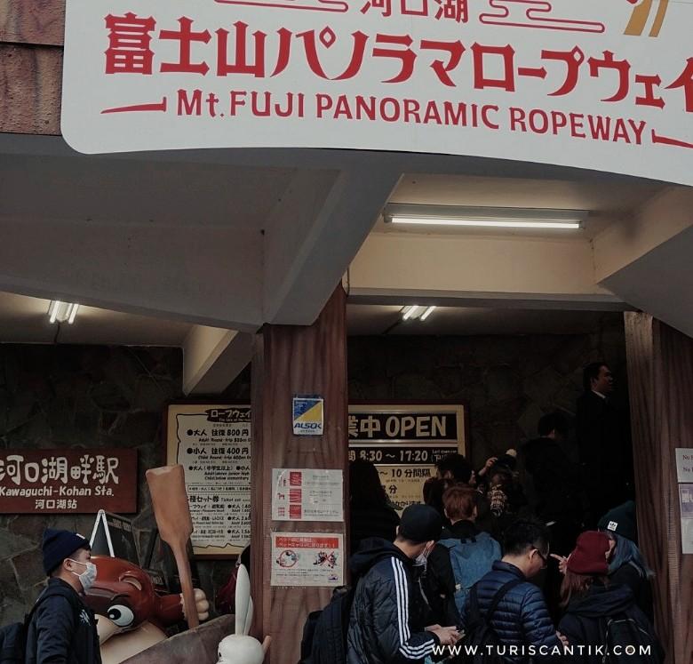 Melihat Gunung Fuji dari Mt Fuji Panoramic Ropeway