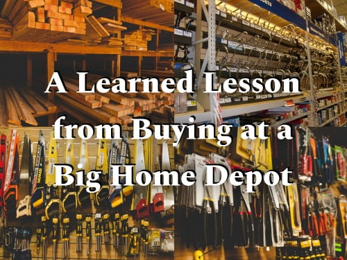 Saving money by learning lessons in buying