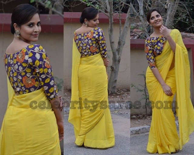 Anasuya in Kalamkari Blouse