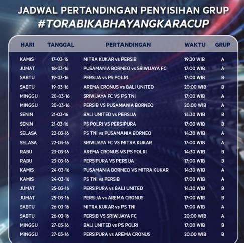 Jadwal Piala Bhayangkara 2016
