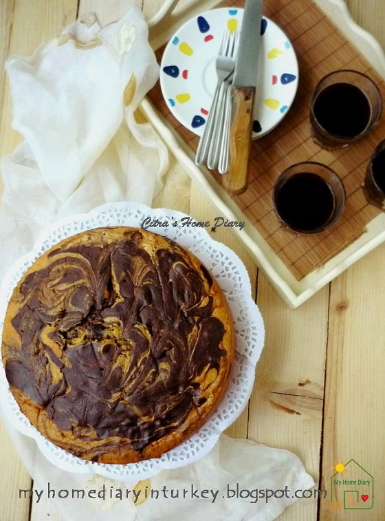 Great Size Home Made Marble Cake Recipe