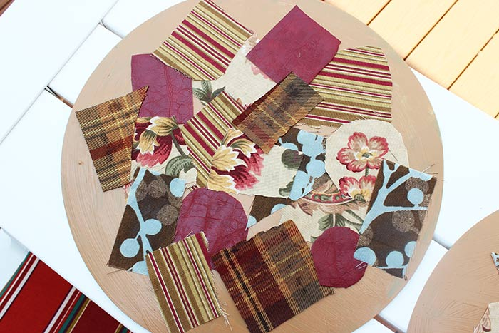 Easy fabric collage place mats for family dinner book club for Table mats design your own
