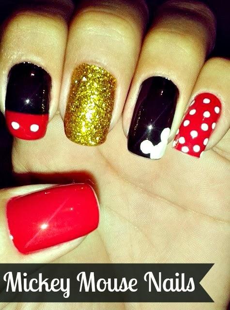 Diy Mickey Mouse Nail Design Crafty Morning