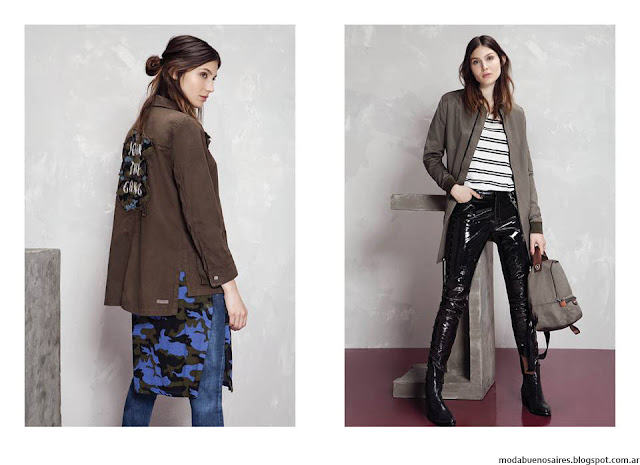 Moda invierno 2016 camperas ropa de mujer Kosiuko. Moda 2016.