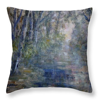 contemporary nature throw pillow