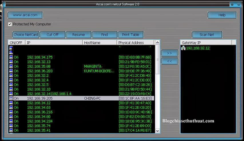 Download Netcut Full mới nhất - Phần mềm cắt mạng máy tính khác trong mạng lan