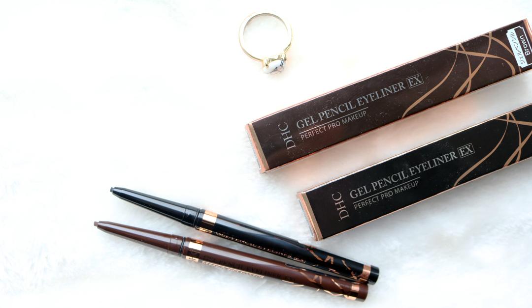 DHC Gel Pencil Eyeliners EX in Black & Brown