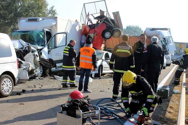 Serbien: Zwei Mazedonier sterben bei Massenunfall auf der Autobahn
