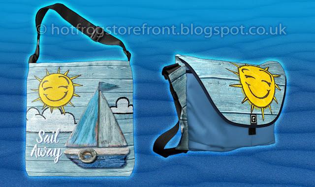 Photograph of 2 shoulder bags Driftwood Beach design