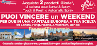 Logo Vinci un weekend d'Amore con Glade: 10 weekend per 2 persone a Londra, Parigi, Madrid, Amsterdam, Berlino