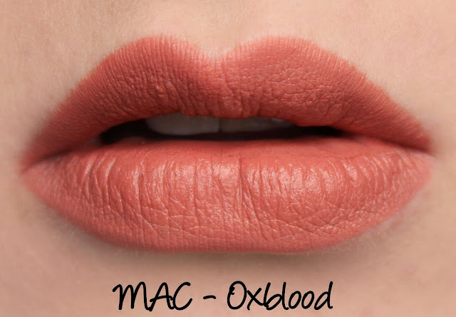 MAC Oxblood Lipstick Swatches & Review