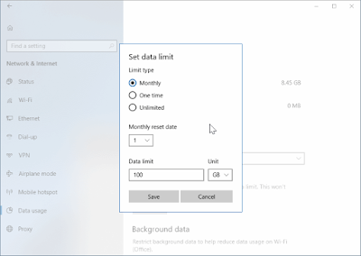 Mengatur limit penggunaan data wifi di windows 10-b