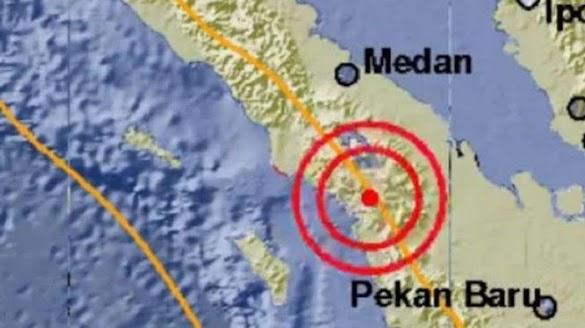 Waspada, Sesar Sumatera Bergerak, Tapanuli Utara Diguncang Gempa