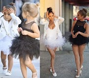 Agbayas! Lol. Friends dress up as North West & Penelope Disick for Halloween
