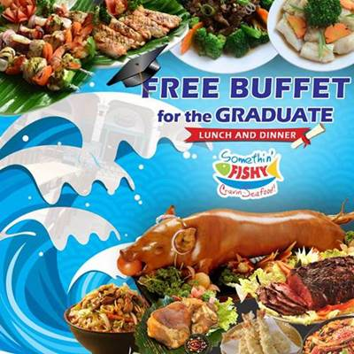 graduation free buffet promo 2016 somethin-fishy price